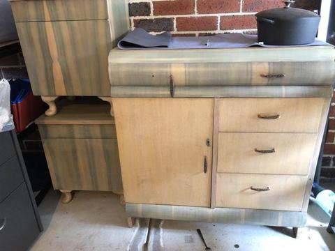 Retro bedroom furniture cupboard