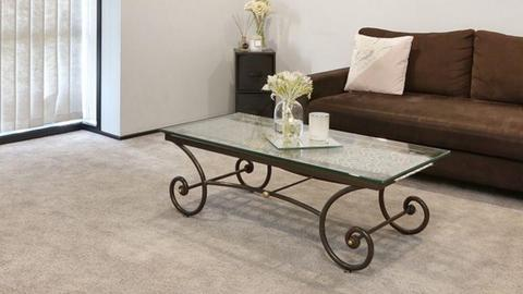 Wrought Iron Toughened Glass top Coffee table