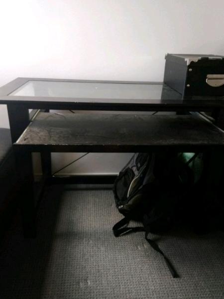 Free glass top desk