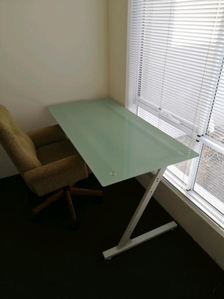Study Desk - glass top