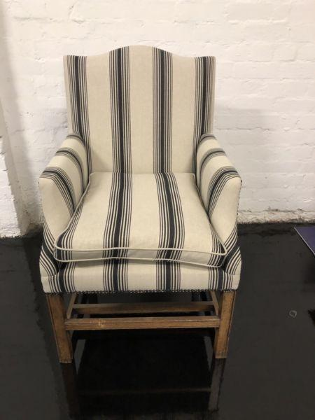 Graham Geddes recovered dining chairs - 10 available