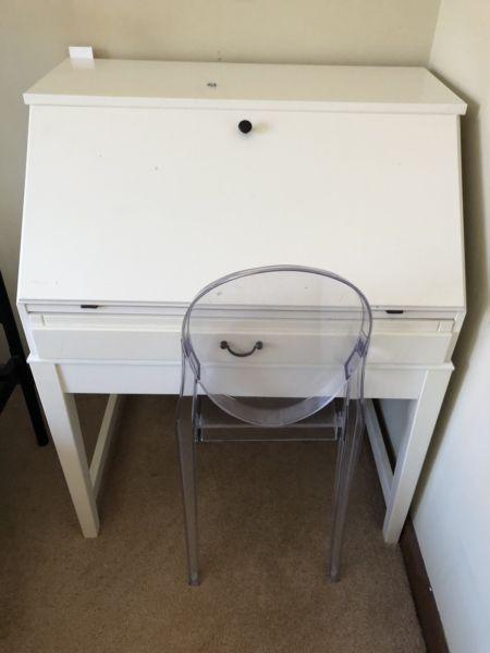 White Wood Desk Brick7 Sale