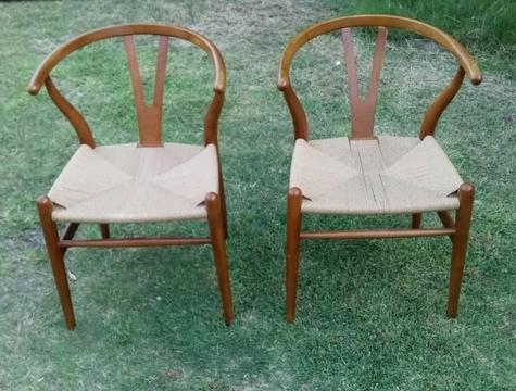 Cane and timber chairs