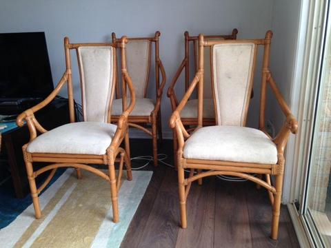 Cane Dining Chairs (Carver style)