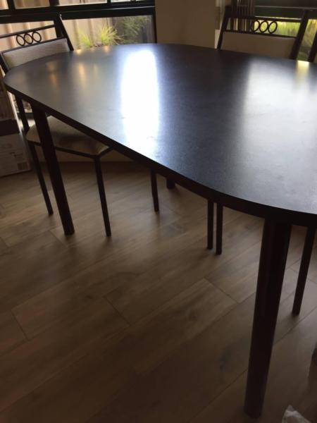 [sold!!]steel frame dining table set for sale
