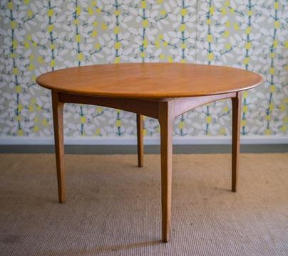 SOLD - Retro mid-century teak Noblett extension dining table