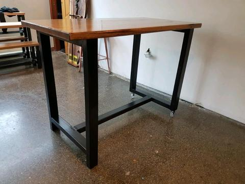 Hardwood bar table island bench