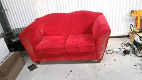 Red 2 Seater Couch