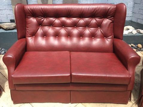 Vinyl Burgundy Lounge suite