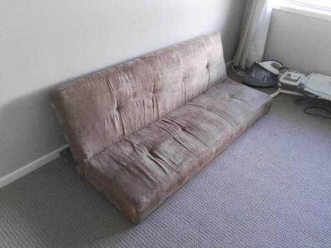 Sofa bed on floor