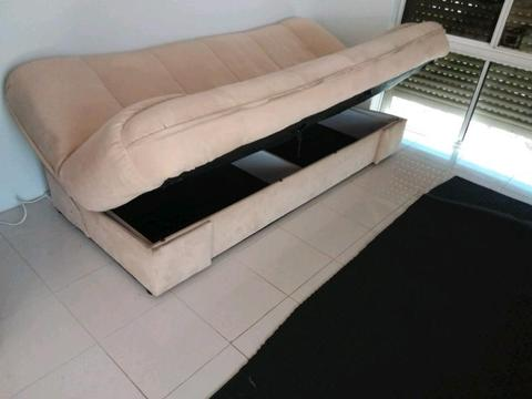 3 Seater Sofa Bed with Storage