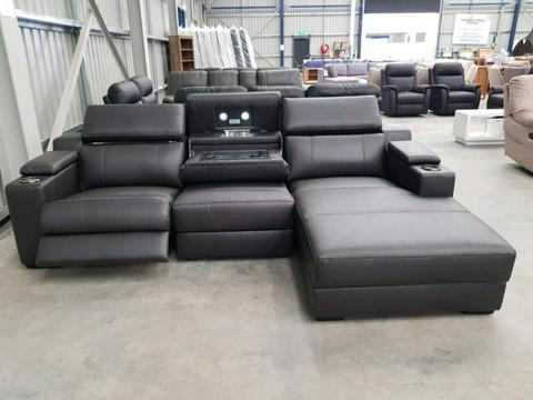 Sea 2 Seater Plus Chaise Electric Reclining Lounge