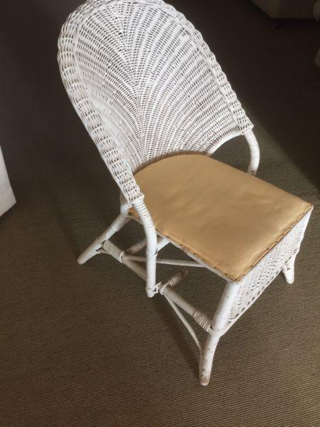 Small Cane Wicker Chair