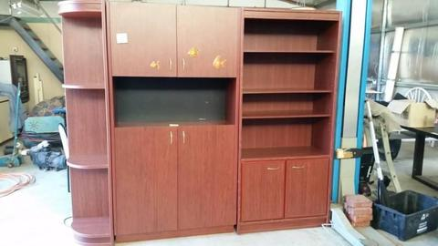 fish tank stand 3 piece unit with bookshelf & corner