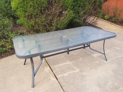 Aluminium/Glass Outdoor Table in Very Good Condition