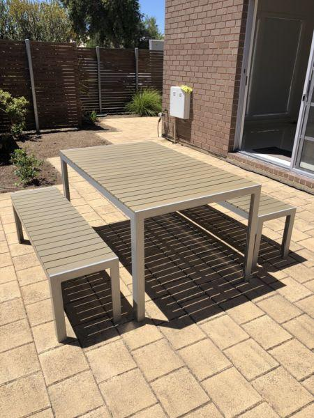 Freedom Outdoor Table and Bench