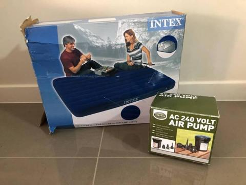 Intex Inflatable Air Bed and Pump