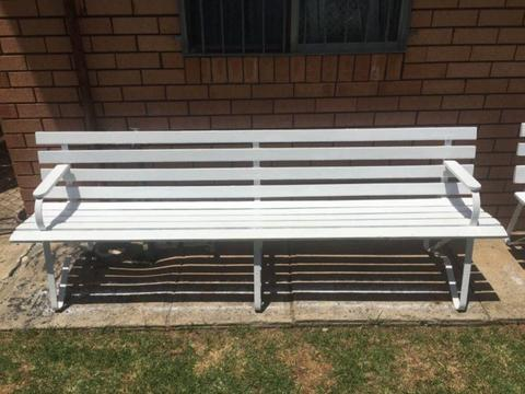 Outdoor benches seating 6-8