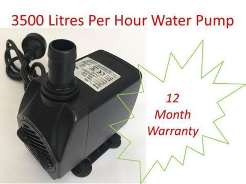 Quality submersible pump for water features, ponds, aquariums, eg