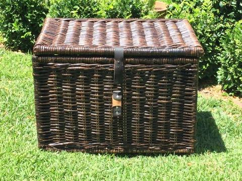 Cane wicker box brown Ikea