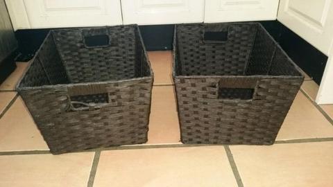 Cane baskets new. Storage baskets