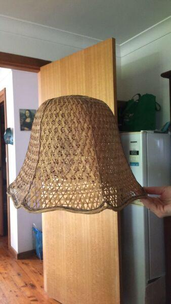 Vintage cane lamp shade