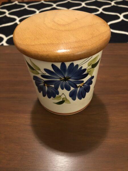 Vintage retro 70s ceramic canister