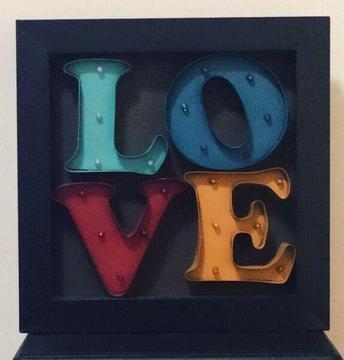 1960's Vintage retro LOVE marquee sign