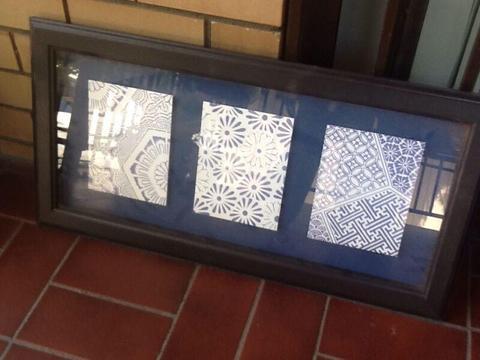 Lovely framed print. $30