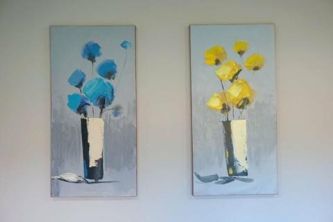Flower Canvas Oil Painting x 2