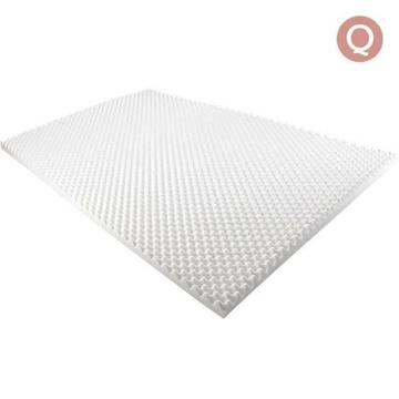 QUEEN Size Deluxe Egg Crate Mattress Topper 5 CM Foam Underlay Pr