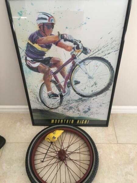 Bike Picture and Ornamental Wheel