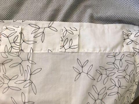 IKEA tab top curtains