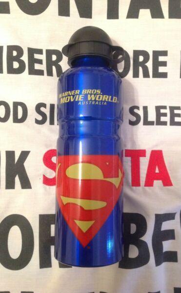 Superman Movie World Metal Bottle - Brand New
