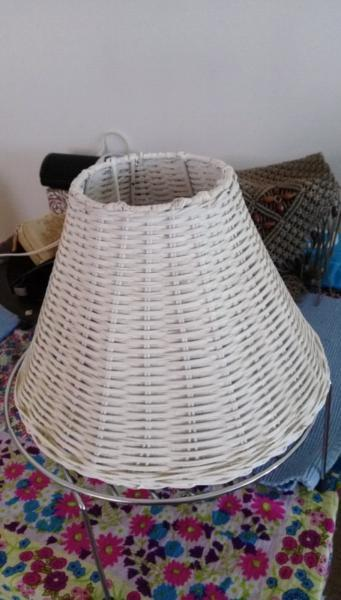 Small cane lampshade