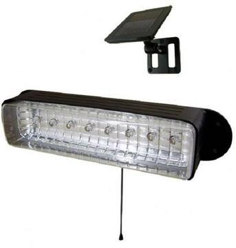 Solar Powered 8 LED Shed Light Workshop GARAGE CAMPING E2168
