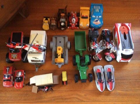 Boys cars, trucks, motorbikes and trailers etc