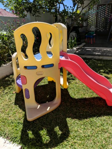 Little tikes outdoor climbing equipment for toddlers with slide