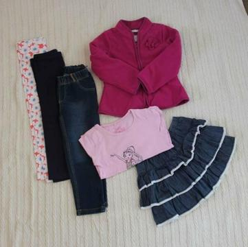 Size 4 Girls Winter Clothing (Pack 12)