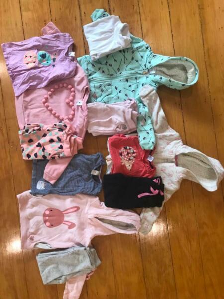 Girls size four 4 winter clothing bundle