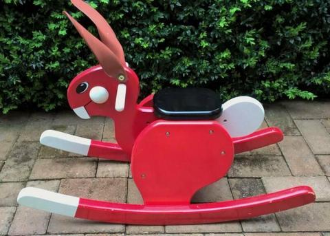 Wooden Rocking Ride On Rabbit Toy