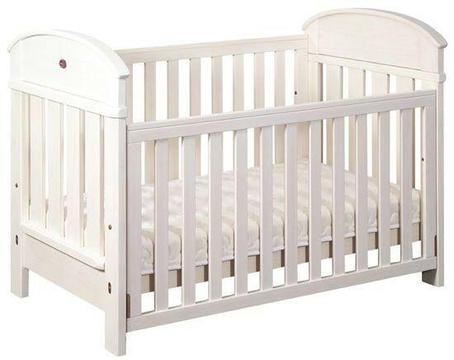 Boori Madison 4 in 1 Cot and Change Table - White plus extras