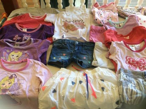 Girls clothes, shoes bundle and bedding